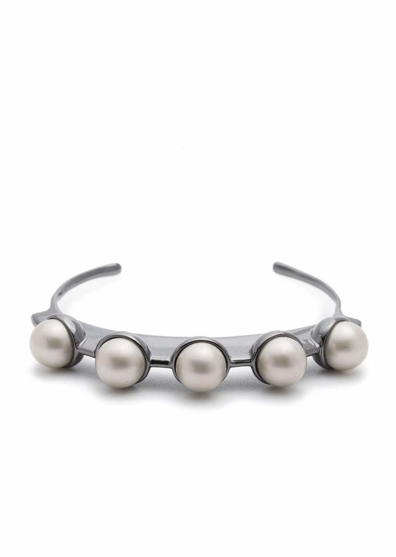 Alexis Bittar Pearly Studded Sheet Cuff Bracelet