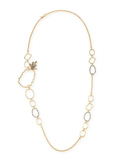 Alexis Bittar Pineapple Link Necklace w/ Crystals