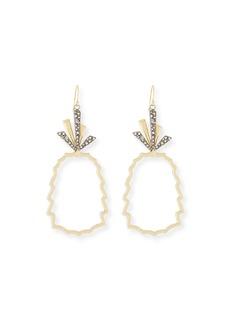 Alexis Bittar Pineapple Wire Drop Earrings