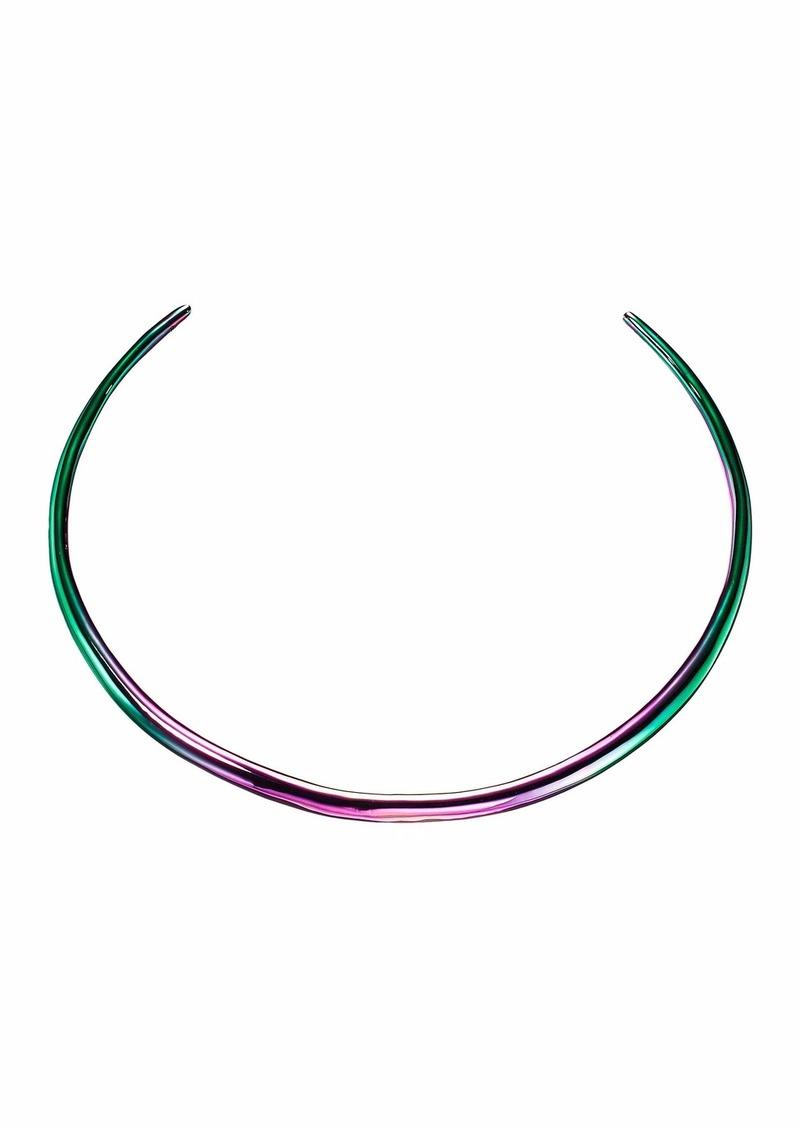 Alexis Bittar PVD Liquid Thin Collar Necklace