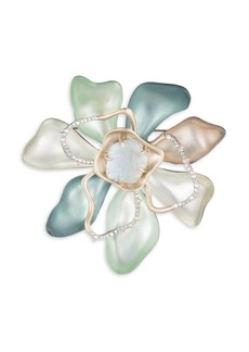 Alexis Bittar Roxbury Muse Abstract Color Block Flower Pin