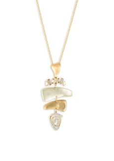 Alexis Bittar Roxbury Muse Dancing Baguette Spiral Mobile Pendant Necklace