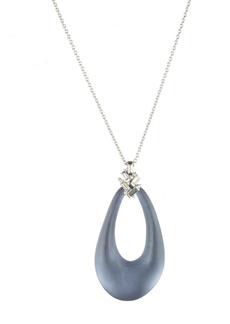 Alexis Bittar Scattered Crystal Baguette Long Pendant Necklace