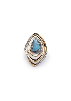 Alexis Bittar Spiral Cocktail Ring  Size 6