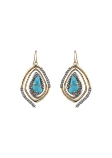 Alexis Bittar Spiral Drop Earrings  Turquoise