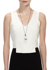 Alexis Bittar Stone Cluster Link Pendant Necklace