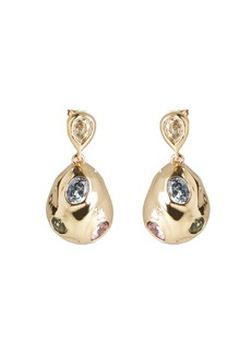 Alexis Bittar Stone Studded Crumpled Drop Earrings