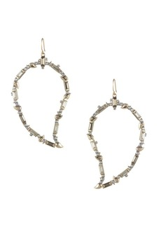 Alexis Bittar Swarovski Crystal Baguette Paisley Wire Earrings