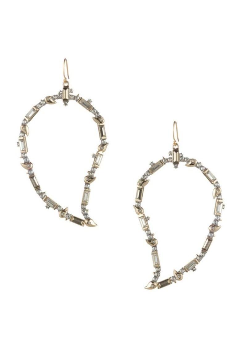 Alexis Bittar Swarovski Crystal Baguette Paisley Wire Earrings