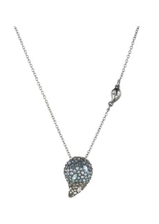 Alexis Bittar Crystal Encrusted Ombré Paisley Pendant Necklace