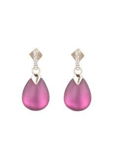 Alexis Bittar Teardrop Crystal Post Earrings