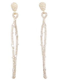 Alexis Bittar 10K Gold Plated Twisted Linear Pave Post Earrings