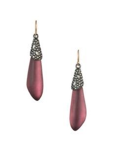 Alexis Bittar Vanitas Crystal Encrusted Capped Earrings