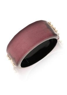 Alexis Bittar Vanitas Golden Studded Hinge Bracelet