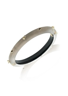 Alexis Bittar Warm Grey Stud Lucite Hinge Bangle