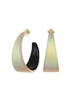 Alexis Bittar Wide Graduated Medium Hoop Lucite Earrings
