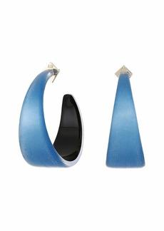 Alexis Bittar Wide Graduated Medium Hoop Lucite Earrings