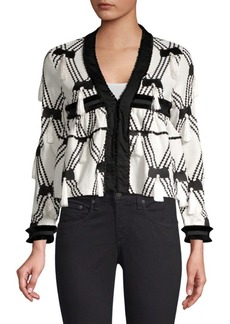 Alexis Boatan Diamond Tassel Knit Jacket