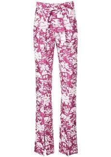 Alexis Burgos floral print trousers