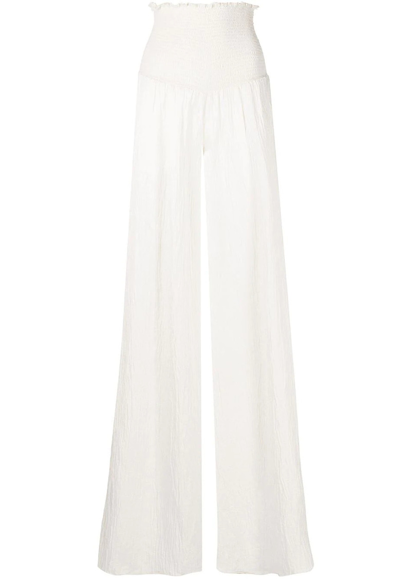 Alexis Carew creased-effect trousers