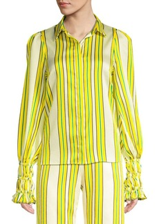 Alexis Catina Striped Puff Sleeve Blouse