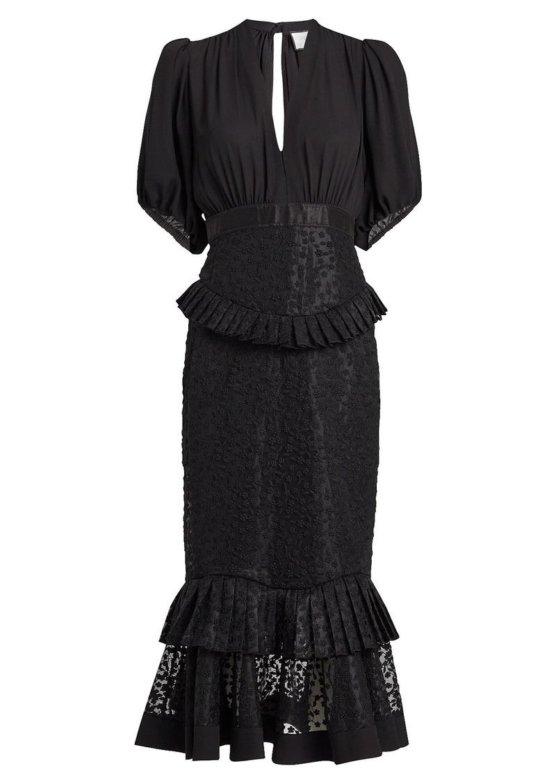 Alexis Dilarra Embroidered Chiffon Dress