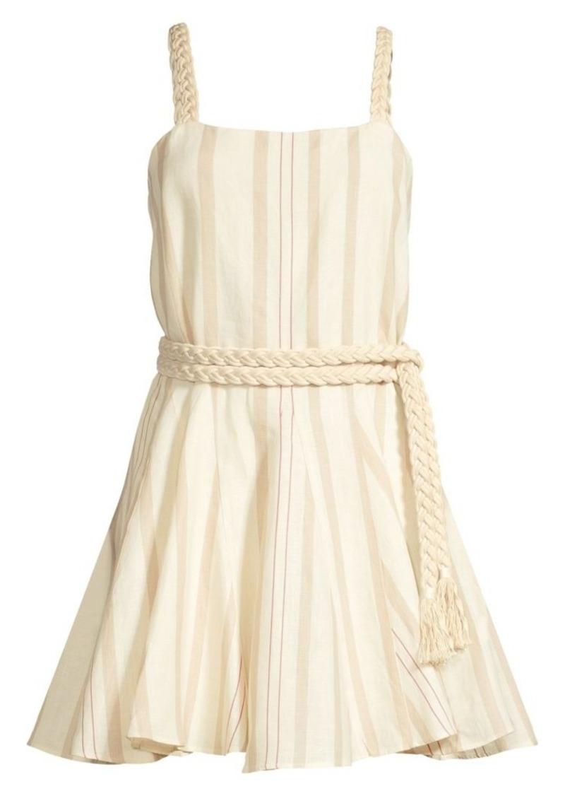 Alexis Dimma Striped Linen Dress