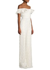 Alexis Edlyn Lace Off-The-Shoulder Jumpsuit