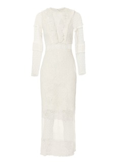 Alexis Elize White Lace Midi Dress