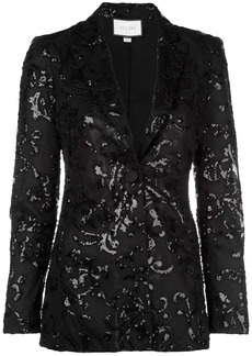 Alexis embroidered fitted blazer