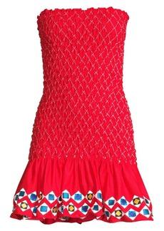 Alexis Fatima Shirred Strapless Mini Dress