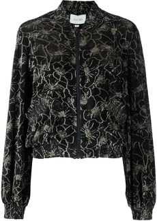 Alexis Fiora floral print bomber jacket