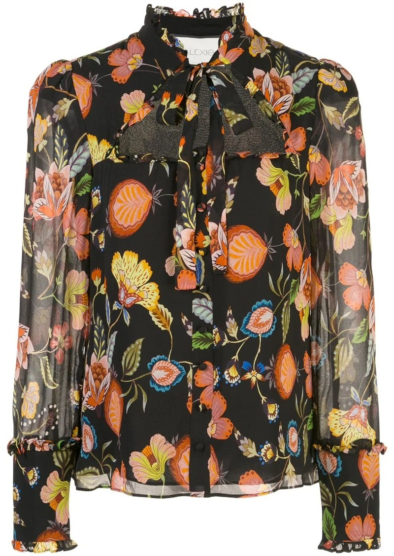 Alexis floral print cut-out blouse