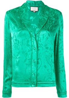 Alexis floral print pajama-style blouse