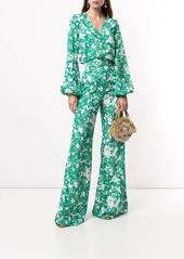 Alexis floral print wide leg trousers