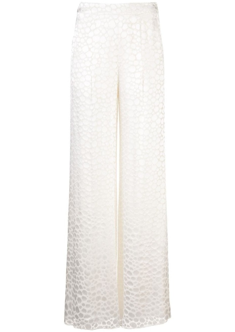Alexis Galini geometric print palazzo trousers