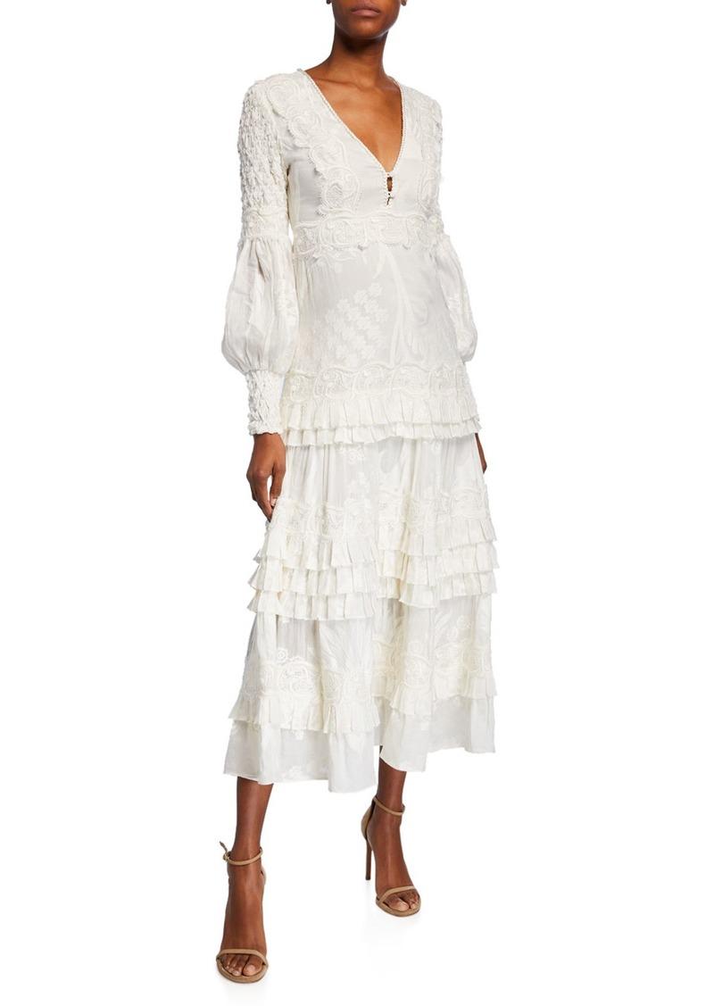 Alexis Gallinda Embroidered Maxi Dress