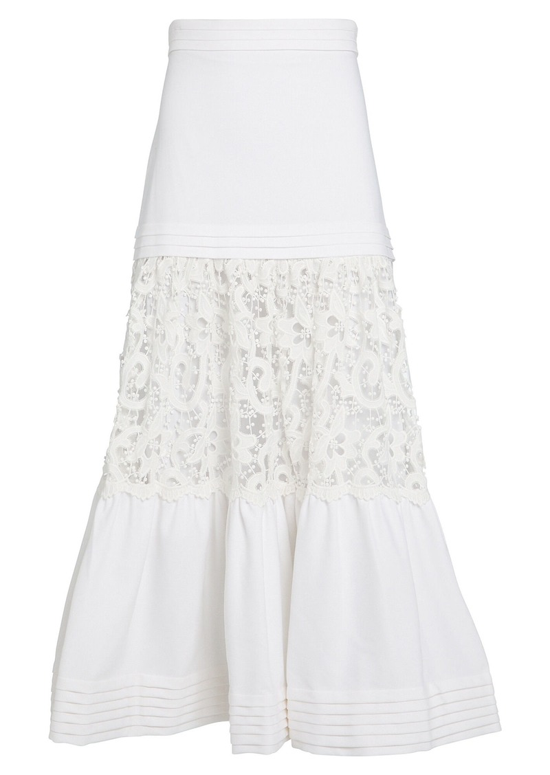 Alexis Gwenda Embroidered Lace Skirt