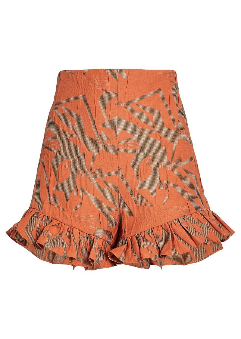 Alexis Ibana Floral Ruffled Shorts