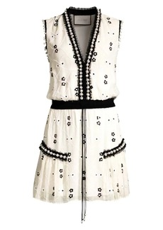 Alexis Isma Floral Beaded & Tulle Sleeveless Dress