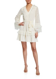 Alexis Katerina Ruffle Long-Sleeve Dress