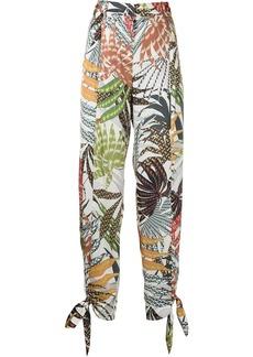 Alexis Cheyenne leaf-print trousers