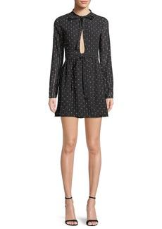 Alexis Leila Printed Long-Sleeve Mini Dress