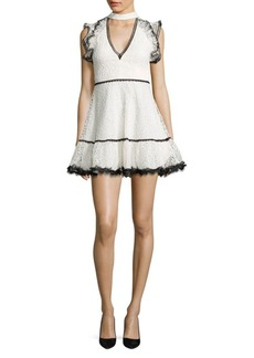 Alexis Lily Lace Ruffle Choker Dress