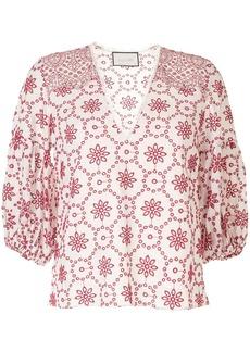 Alexis linen eyelet detail blouse