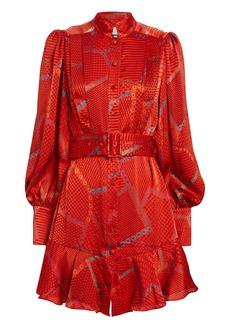 Alexis Lishan Printed Mini Dress