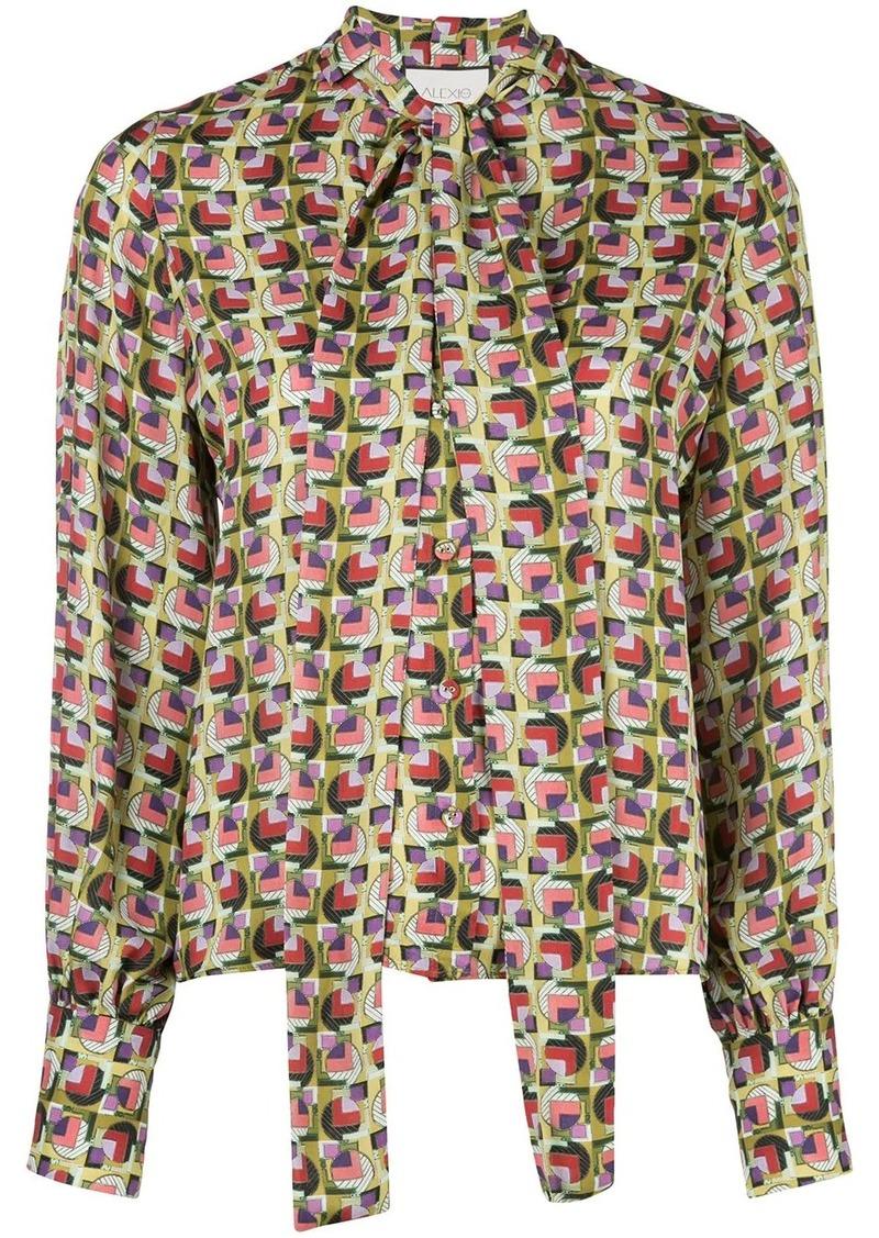 Alexis Londyn geometric-print blouse