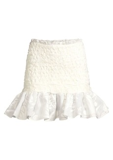 Alexis Lotus Smocked Mini Skirt