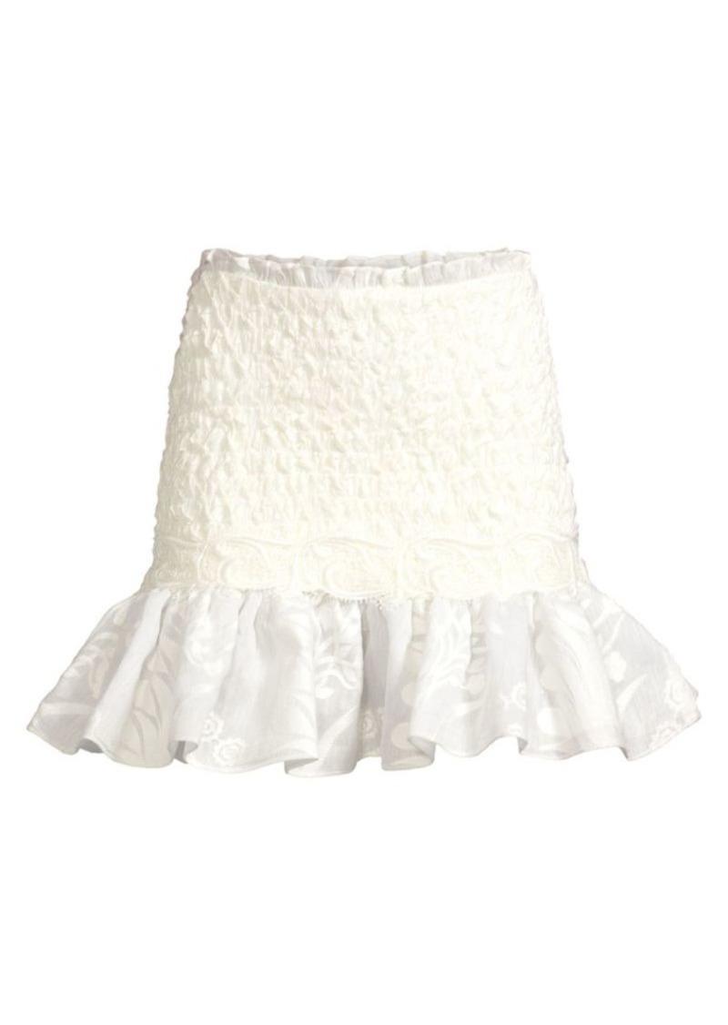 Alexis Lotus Smocked Mini Skirt