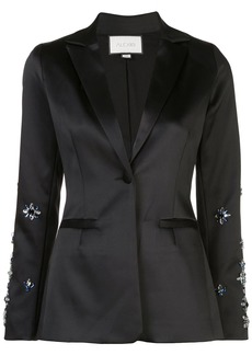 Alexis Loucas floral beaded blazer